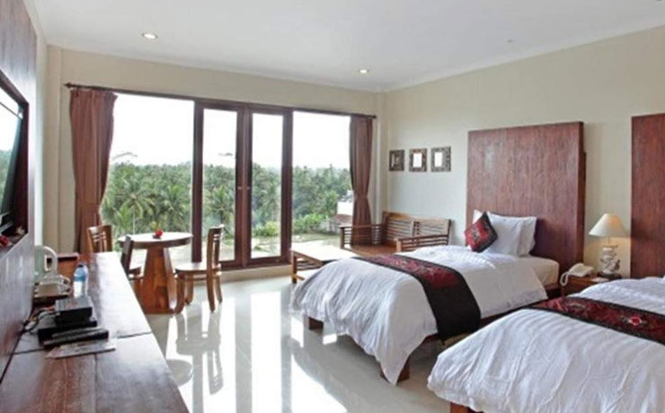 Suite with Rice Field View